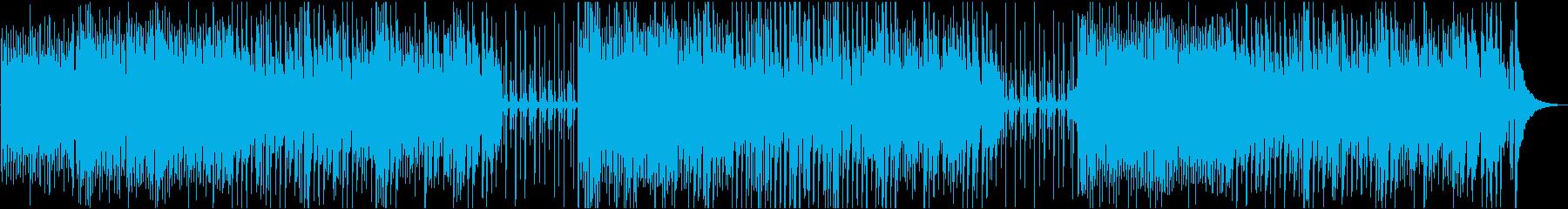 カントリー調の明るいオープニングの再生済みの波形
