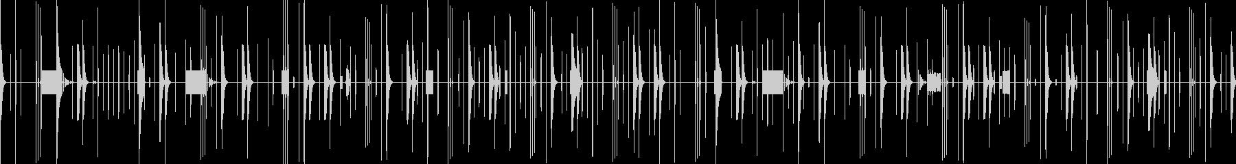 クリックビープ音を多用したビートミックスの未再生の波形
