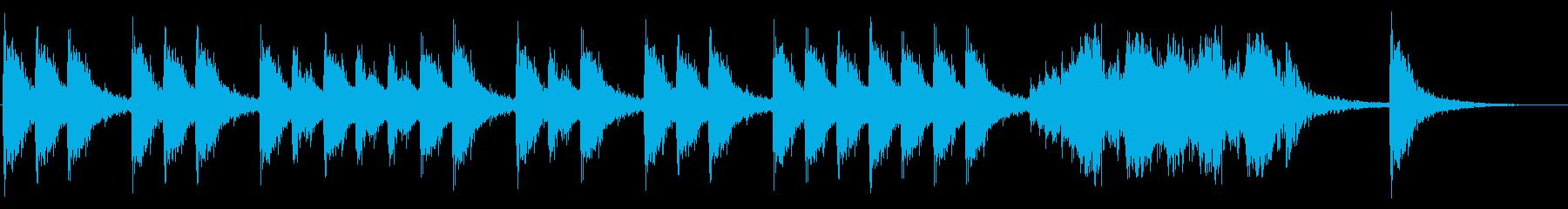 三三七拍子。迫力のある太鼓音の再生済みの波形