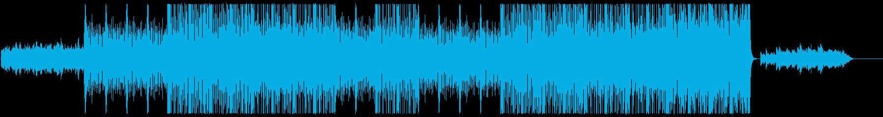 ダークでドラマのあるBGMの再生済みの波形