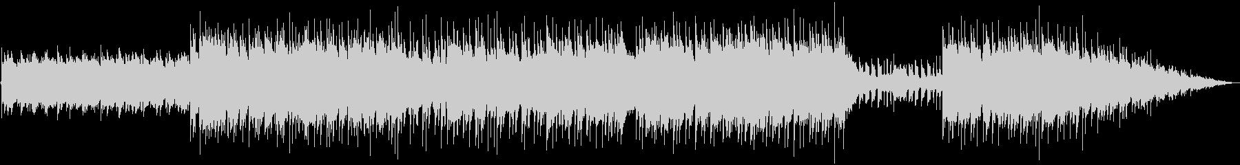 明るいギターアルペジオのBGMの未再生の波形