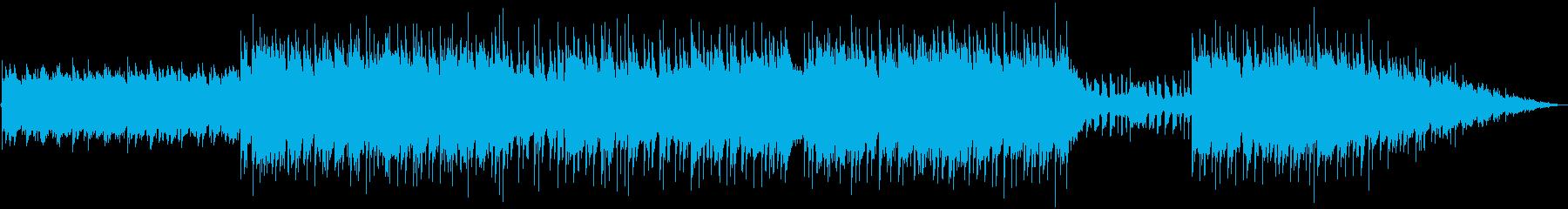 明るいギターアルペジオのBGMの再生済みの波形