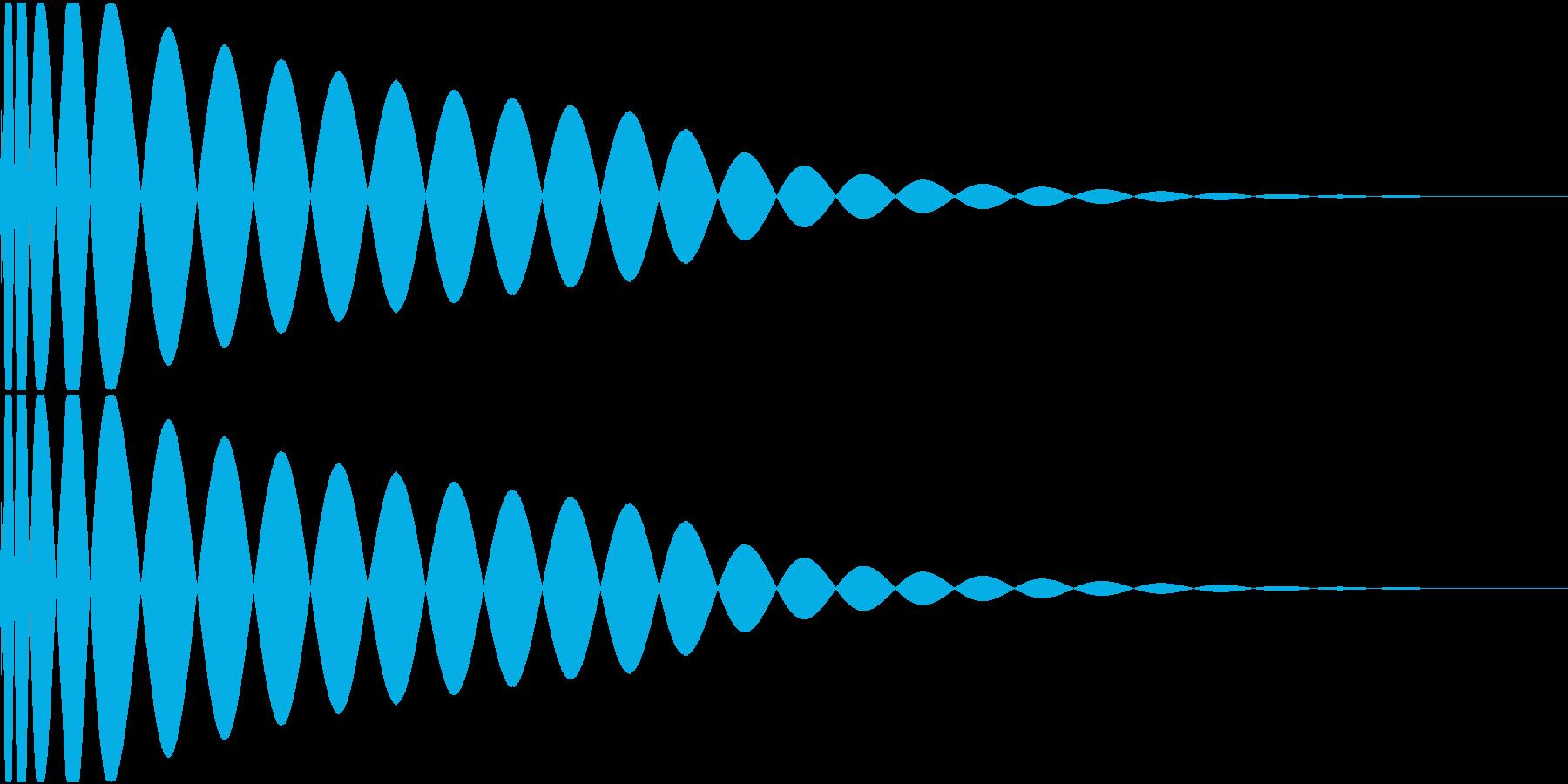 DTM Kick 90 オリジナル音源の再生済みの波形