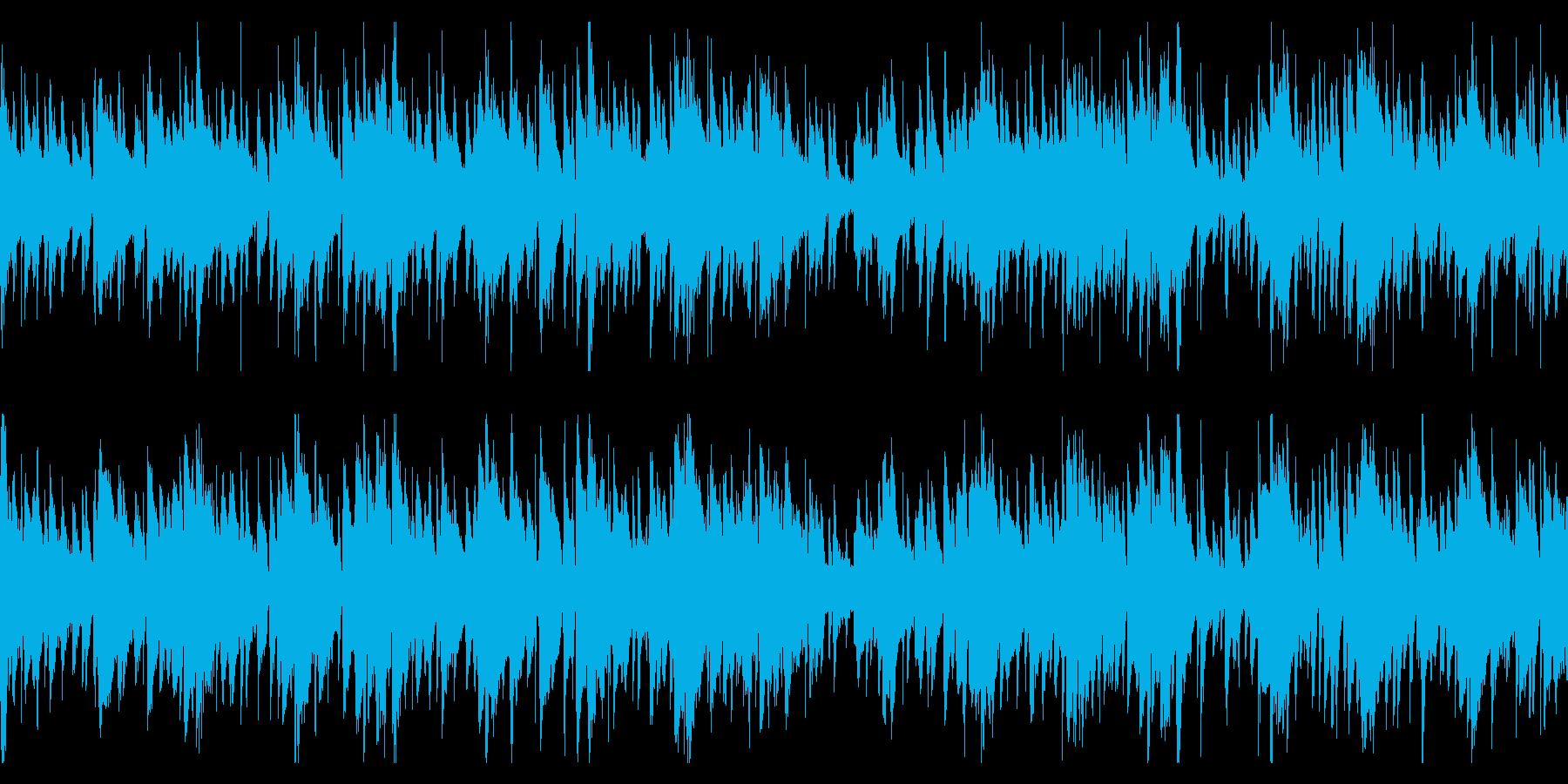 お洒落なジャズピアノトリオ18 ループの再生済みの波形