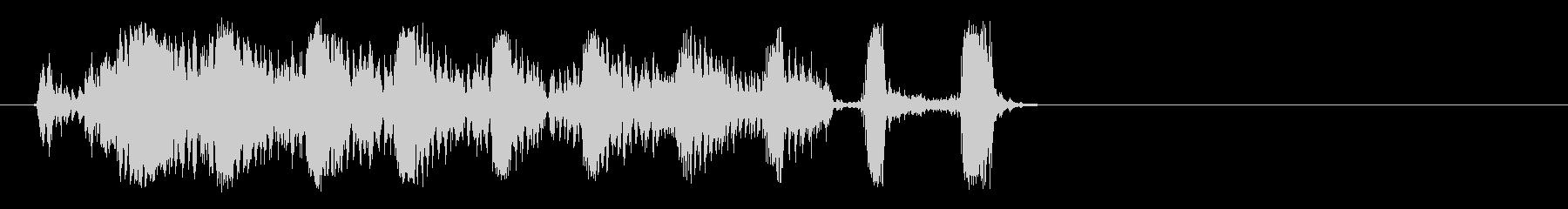 リズミカルな円形のきしみ音を伴うラ...の未再生の波形