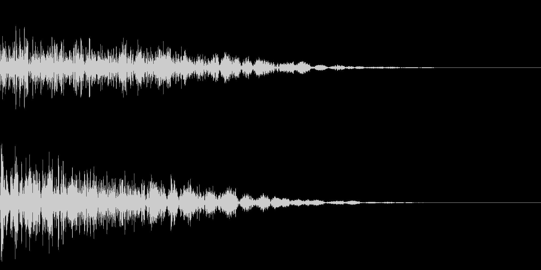 怖いジングル ホラータイトル表示音等にもの未再生の波形