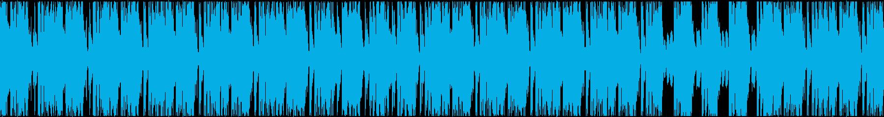 おちゃらけドラムに真面目なシンセの再生済みの波形