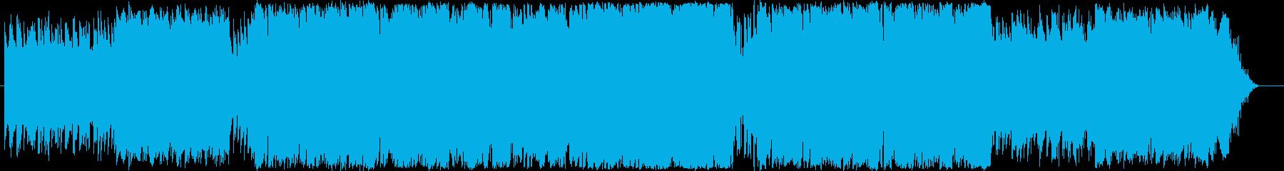 STG等のBGM用テクノの再生済みの波形