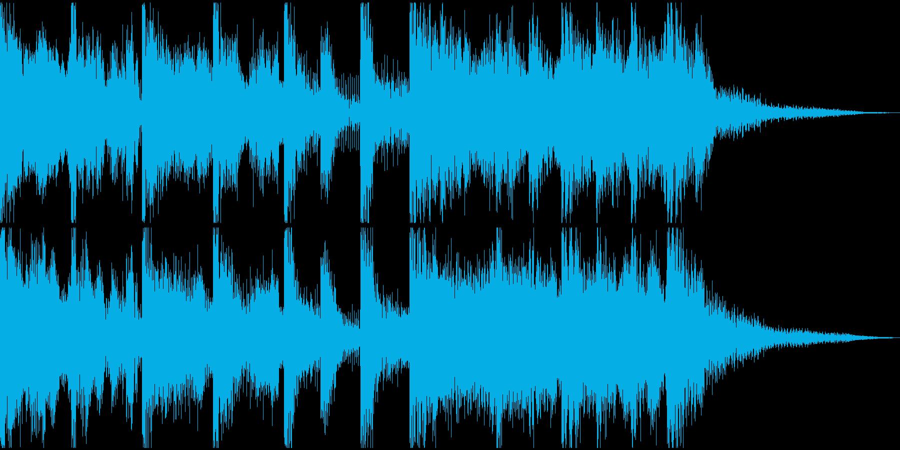 始まりための壮大かつ簡潔なファンファーレの再生済みの波形