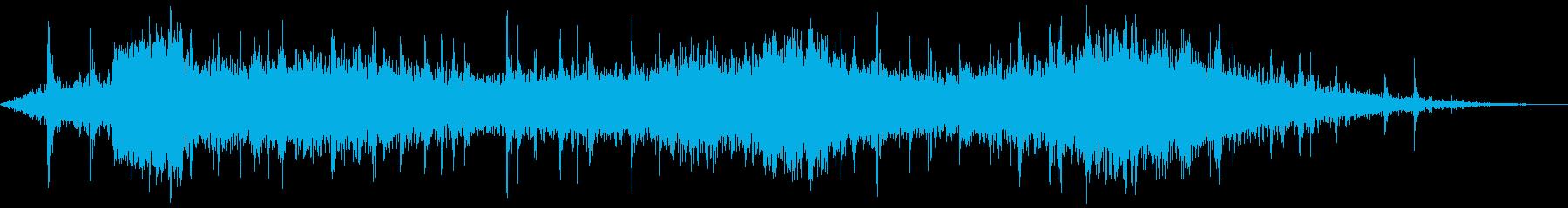 列車の出発(ホイッスルホーン付き)の再生済みの波形