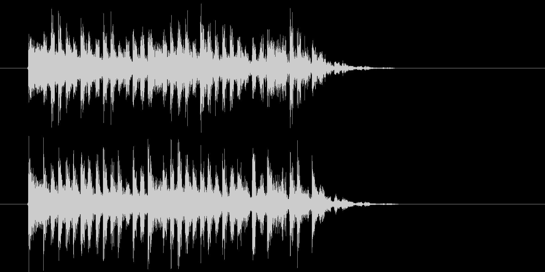 悠長でリズミカルなシンセポップジングルの未再生の波形