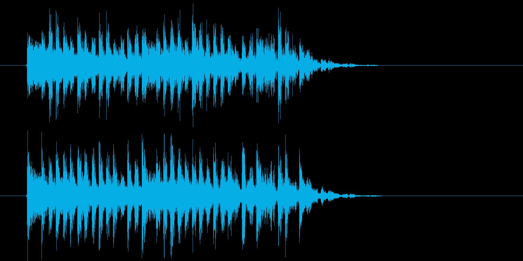 悠長でリズミカルなシンセポップジングルの再生済みの波形