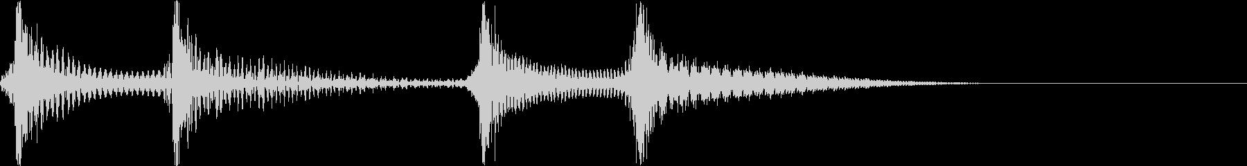 ジャカジャン(三味線)の未再生の波形