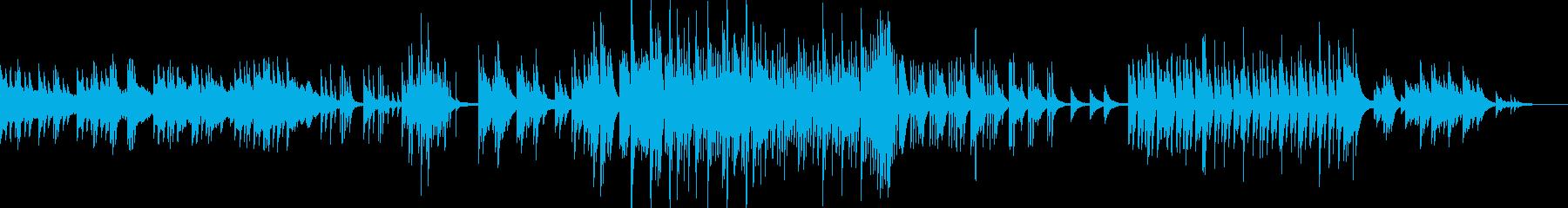 ピアノと弦楽器の心揺さぶるバラードの再生済みの波形