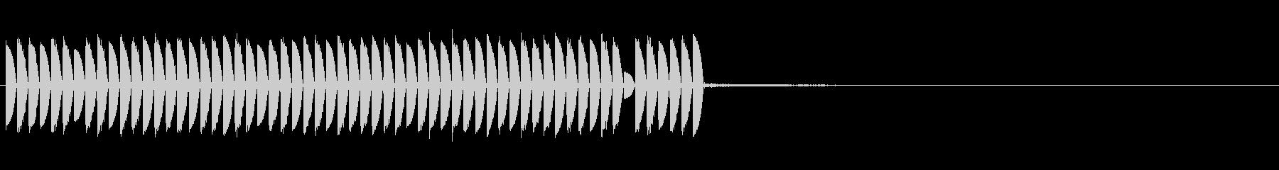 電子音 魔法 サイコロ回しの未再生の波形