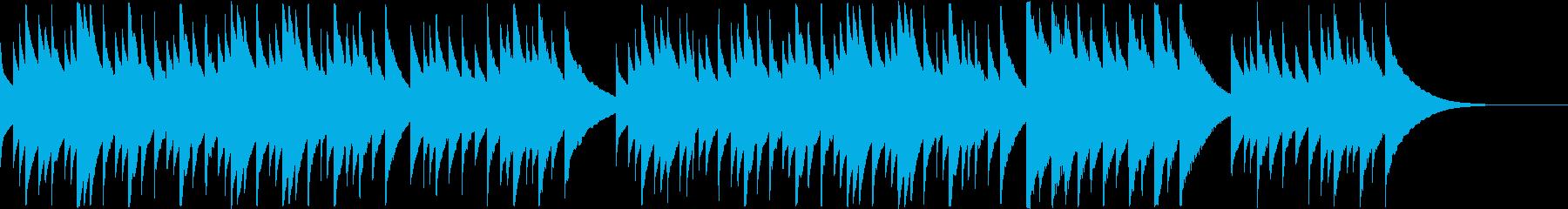 冬の夜に似合うグロッケンの小曲の再生済みの波形