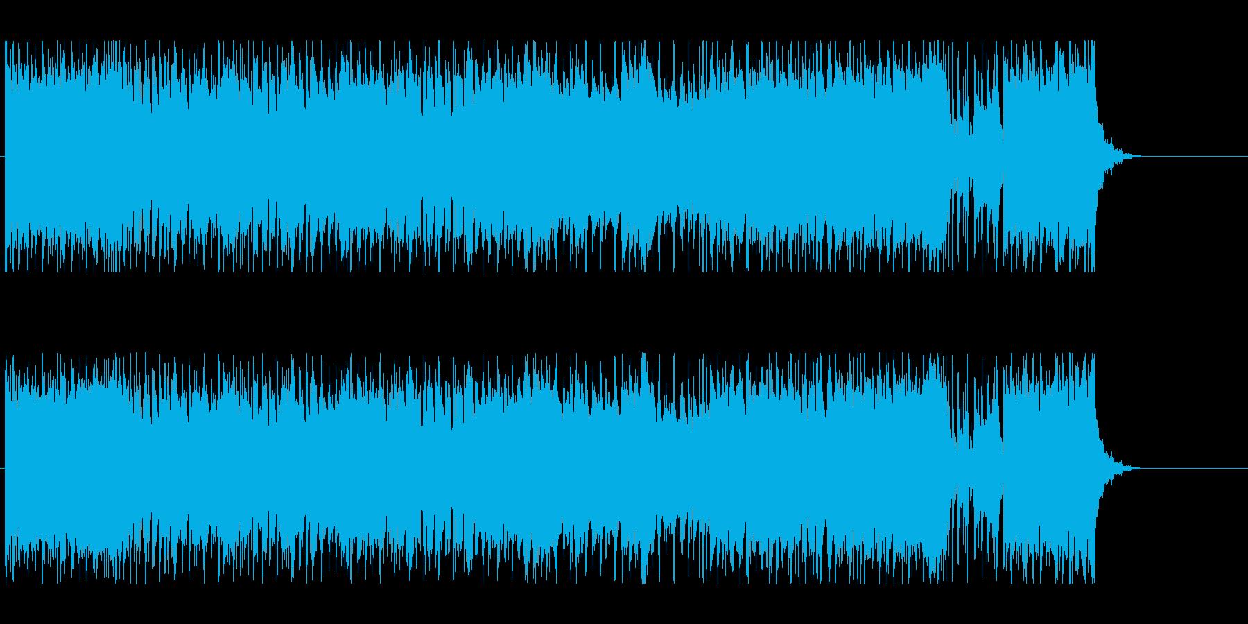 激しくスピード感のあるテクノロックの再生済みの波形
