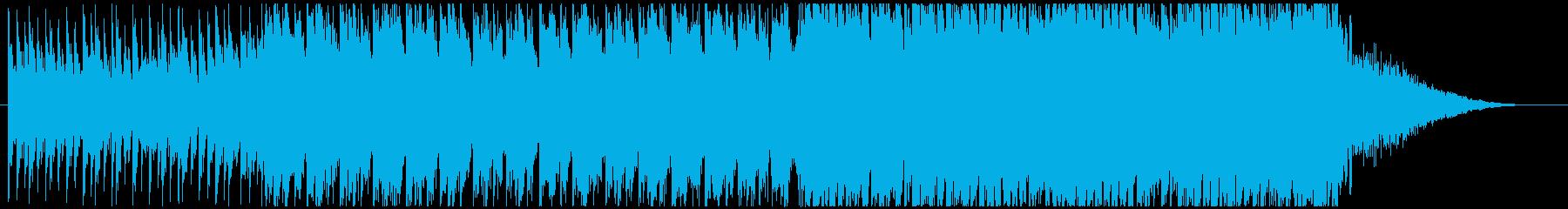 壮大で激しいオーケストラ調の再生済みの波形