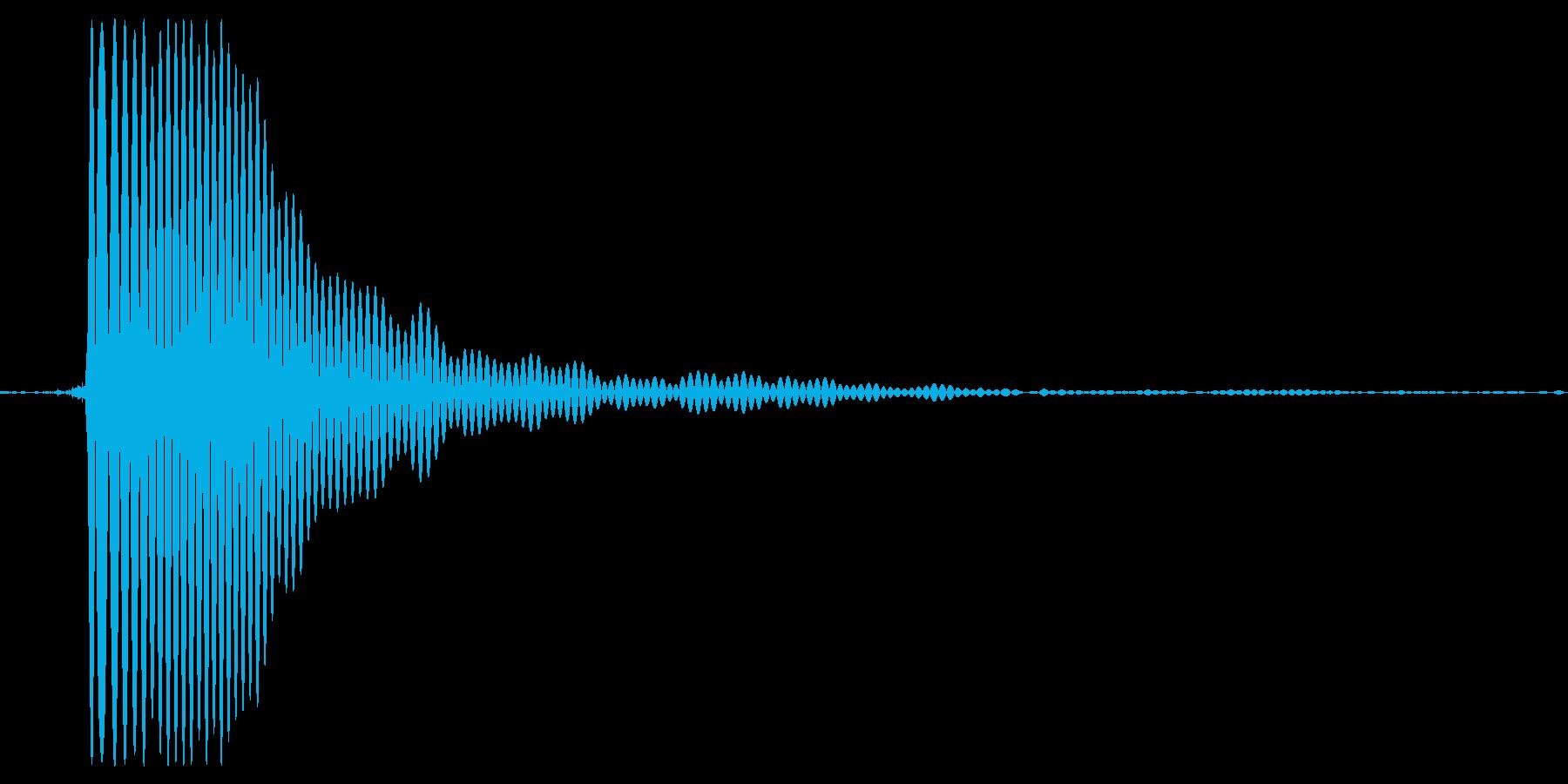 ポッ。蓋・栓・キャップをあける音(高め)の再生済みの波形