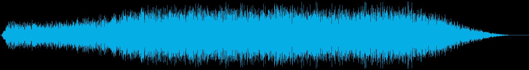 土石による地震の再生済みの波形