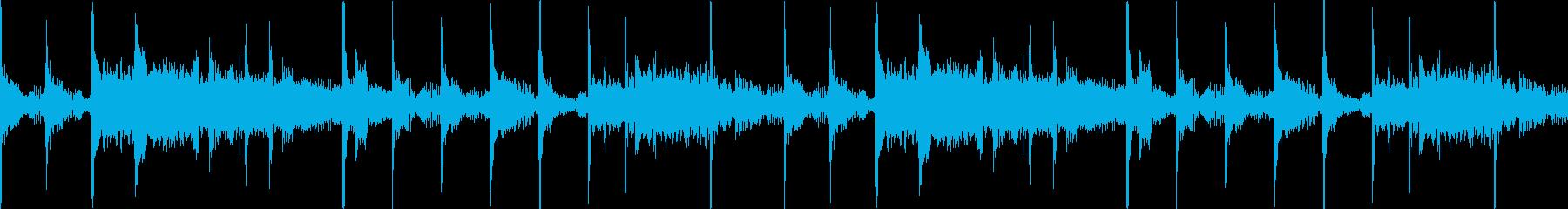 深いリヴァーブSE入りHIPHOPビートの再生済みの波形