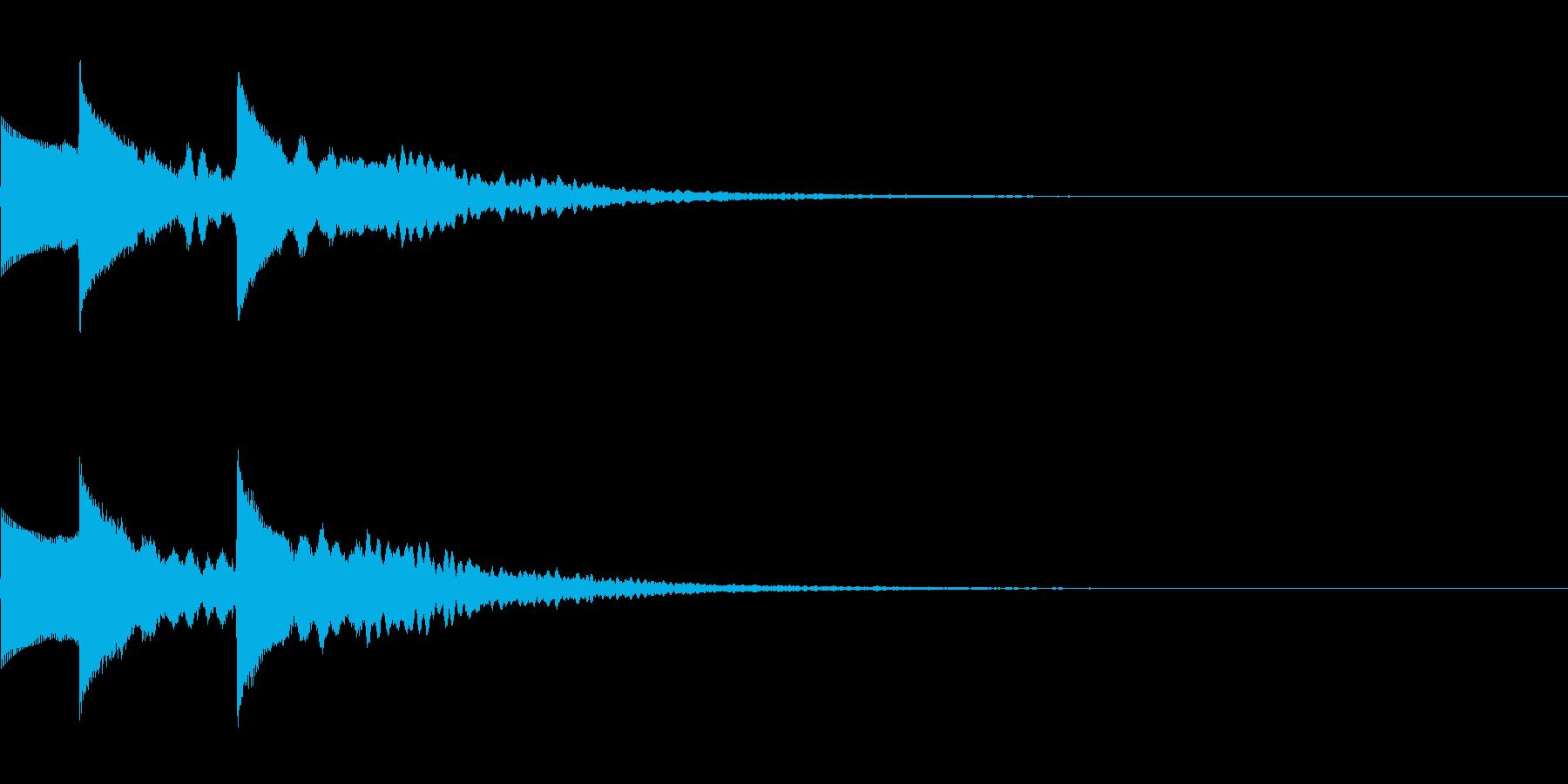 ホラーだけど神秘的な効果音(怖い/綺麗3の再生済みの波形