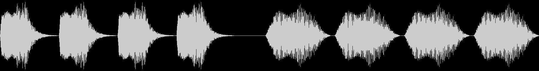 高送信、2バージョン、高、信号。 ...の未再生の波形