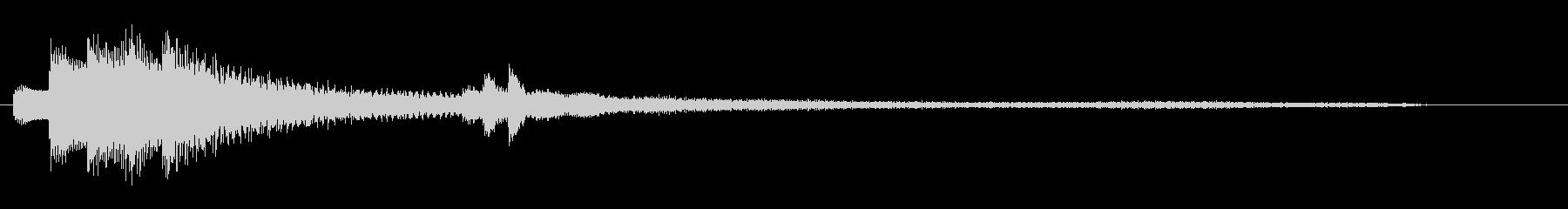 気づき(ピアノ・フレーズ)B1Lの未再生の波形
