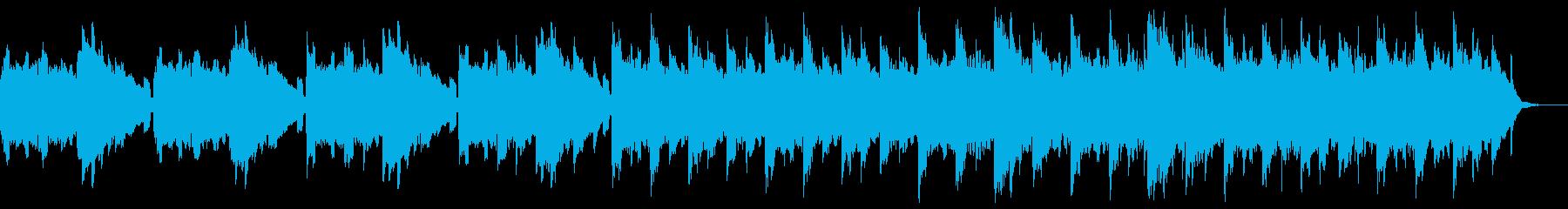 ヨガのバックミュージックなどに合う曲の再生済みの波形