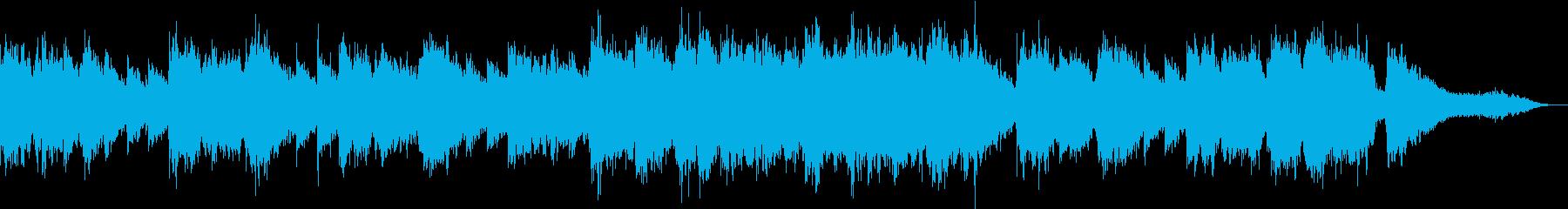 少しノスタルジックな優しいBGMの再生済みの波形