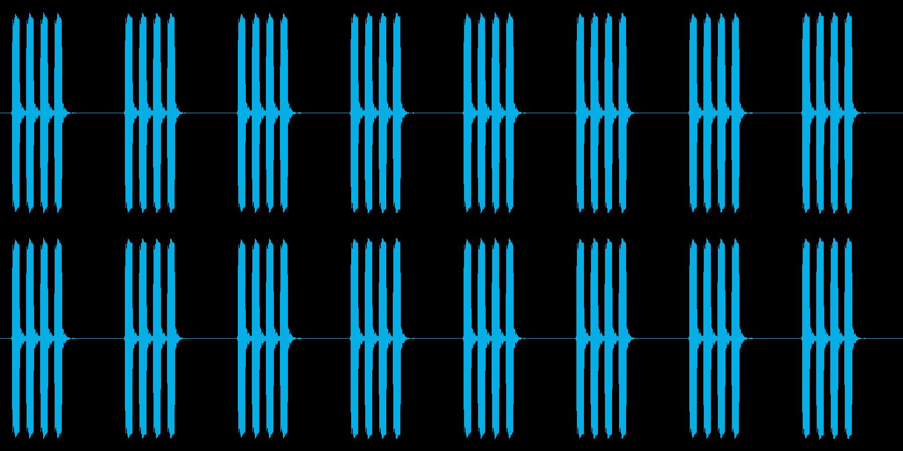 時計 アラーム03-01(ループ)の再生済みの波形