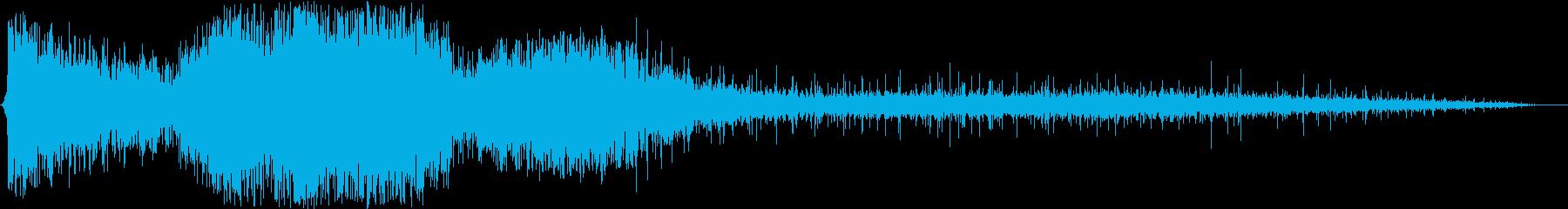 バーストとパチパチ音を伴う重ガス爆発の再生済みの波形