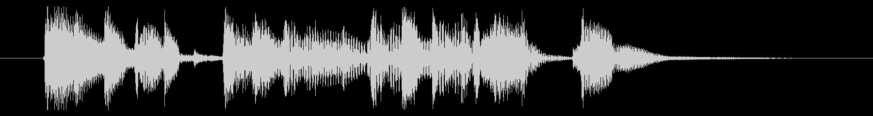 アコギとマリンバの爽やかジングル 2の未再生の波形