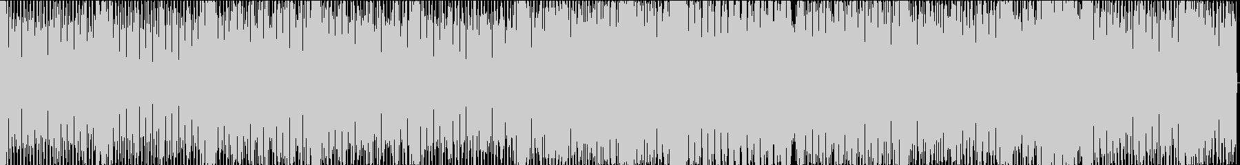 スクラッチが印象的なテクノポップの未再生の波形