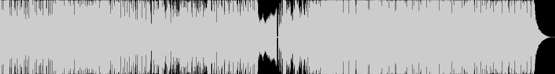 スピード感満載のトランスBGMの未再生の波形