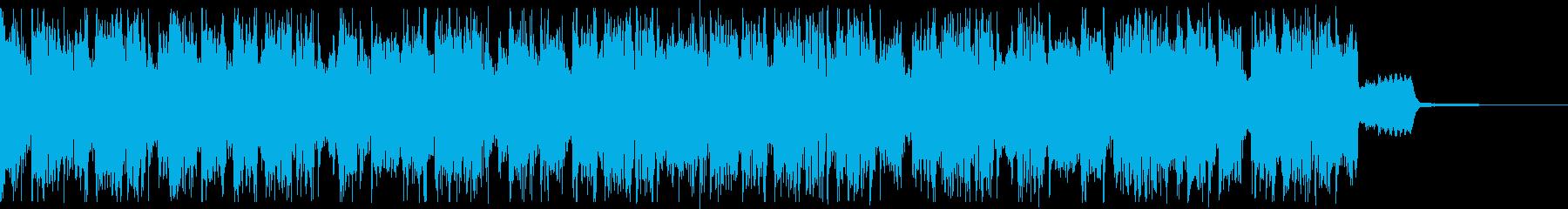 半音で行き来するトランペットのジングルの再生済みの波形