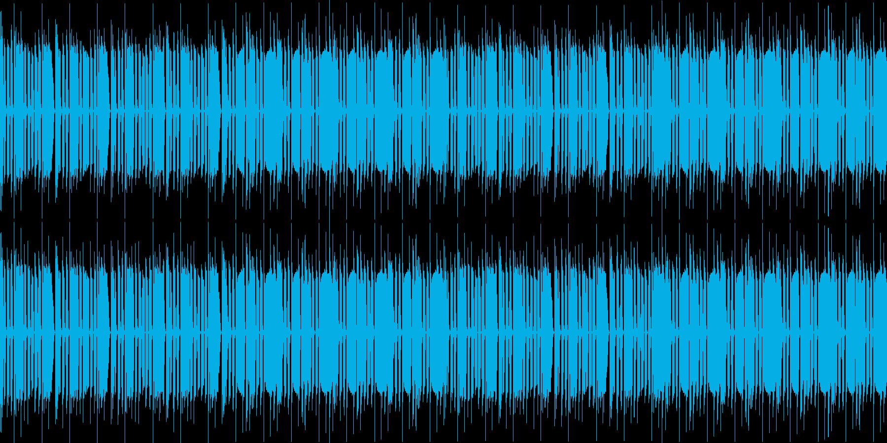重いベースに小気味良いシンバルのビートの再生済みの波形