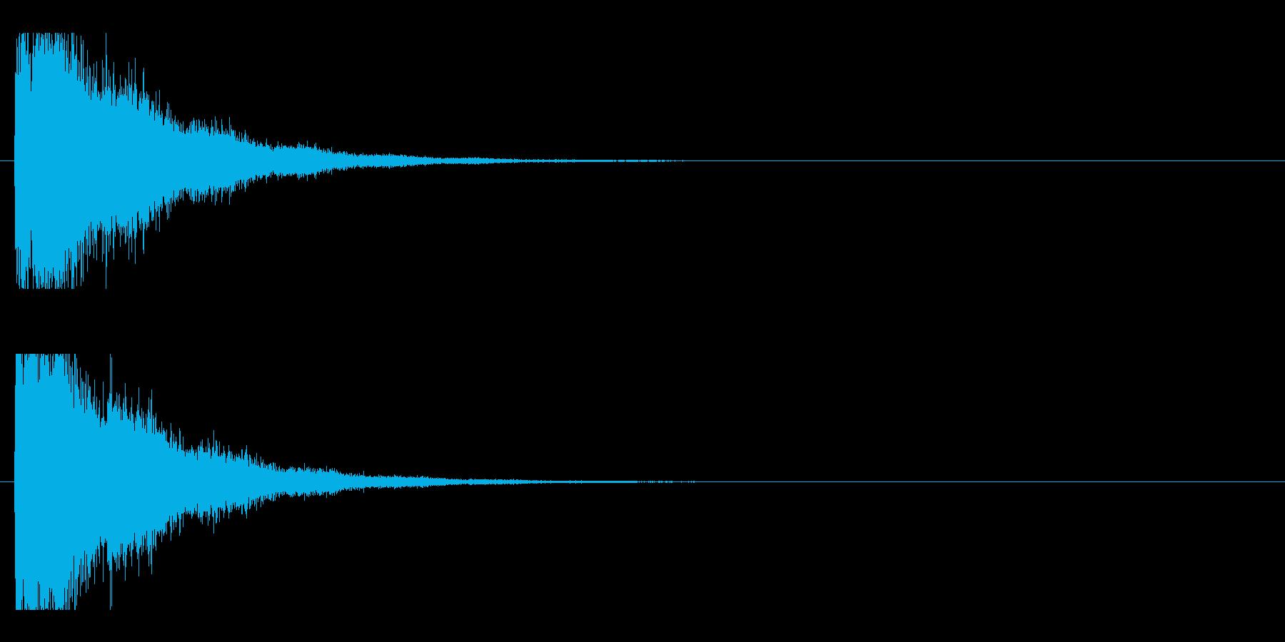 レーザー音-75-2の再生済みの波形