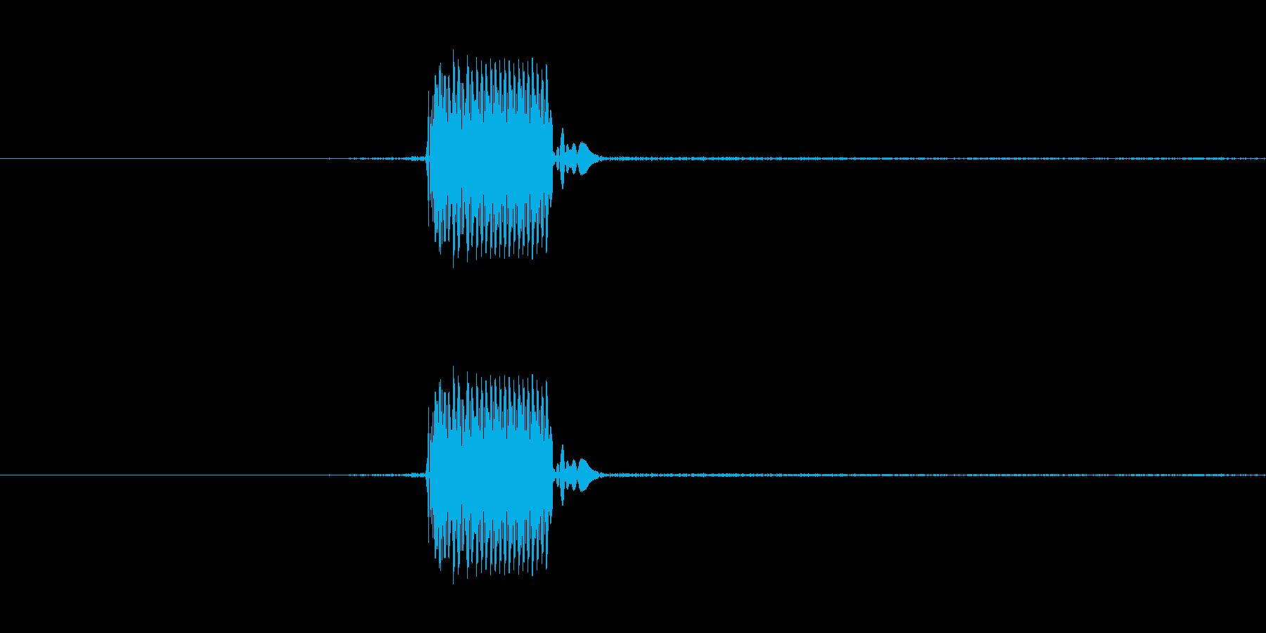 ゲームのカーソルを動かした時のSEです。の再生済みの波形