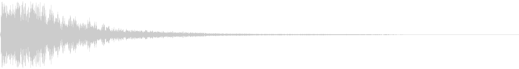 【映画演出】衝撃音 ドーンッ・・・・の未再生の波形
