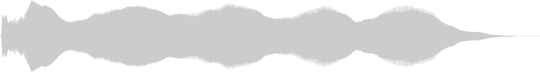 【パッド音】ボーンッ・・・の未再生の波形