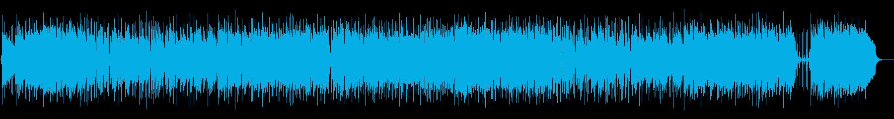 爽やかでゆったりなシンセサイザーサウンドの再生済みの波形