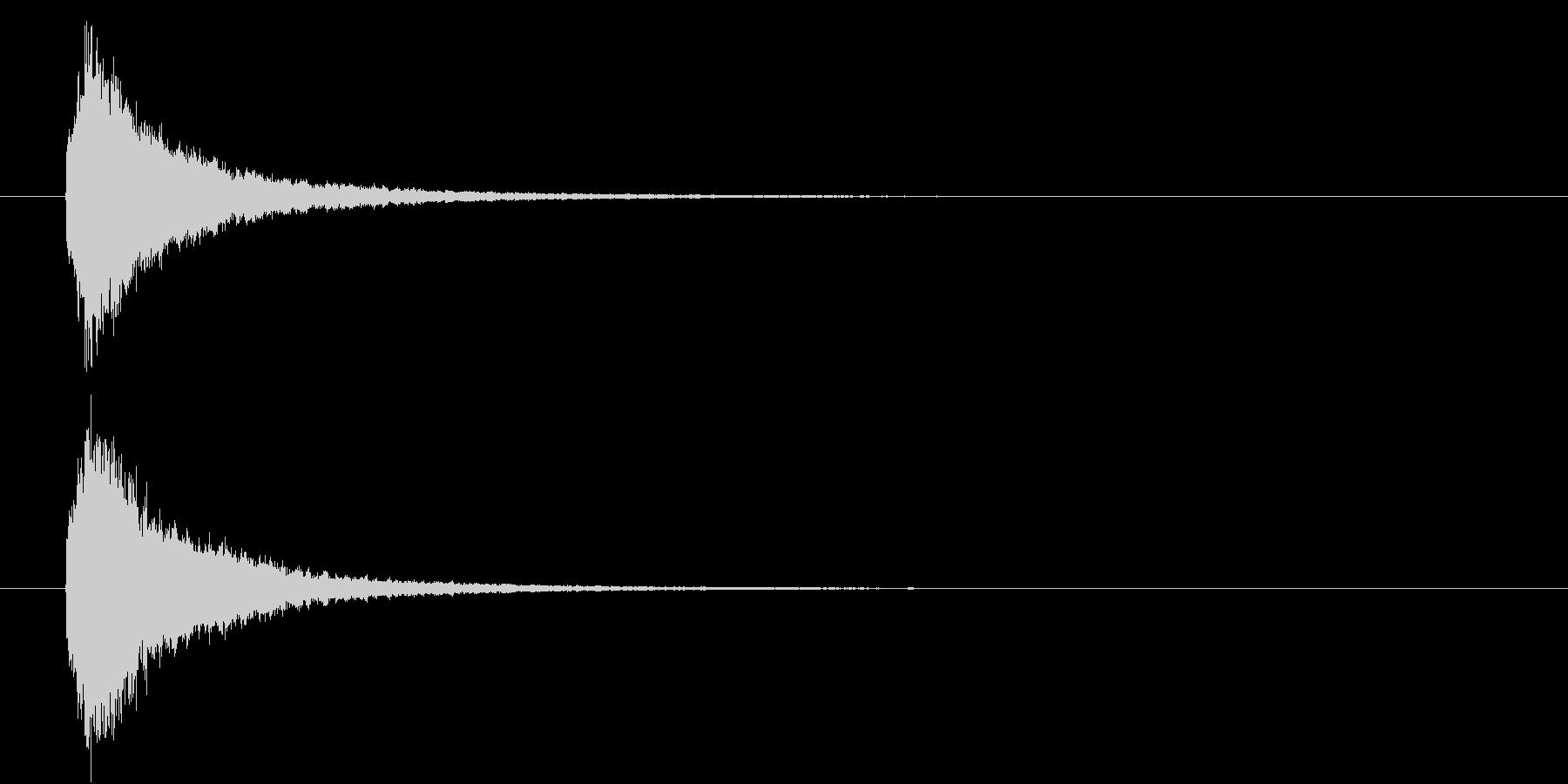 回復魔法の効果音2の未再生の波形