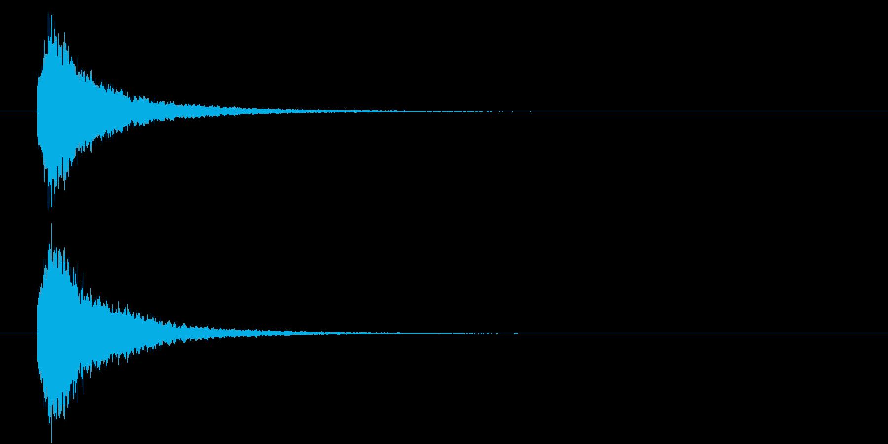 回復魔法の効果音2の再生済みの波形