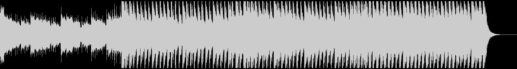使いやすい60秒版 徐々に立ち上がる曲の未再生の波形