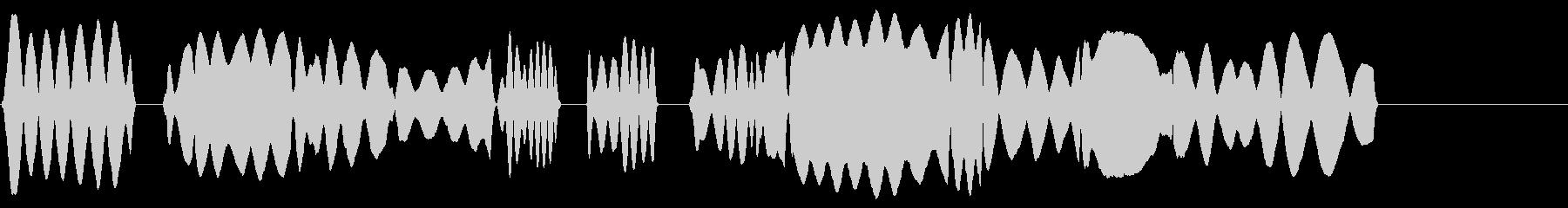 校歌風ヘタウマリコーダーのみのジングルの未再生の波形