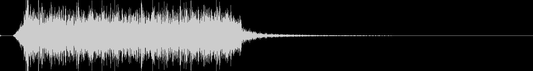迫力あるロック・メタルのジングル 03の未再生の波形