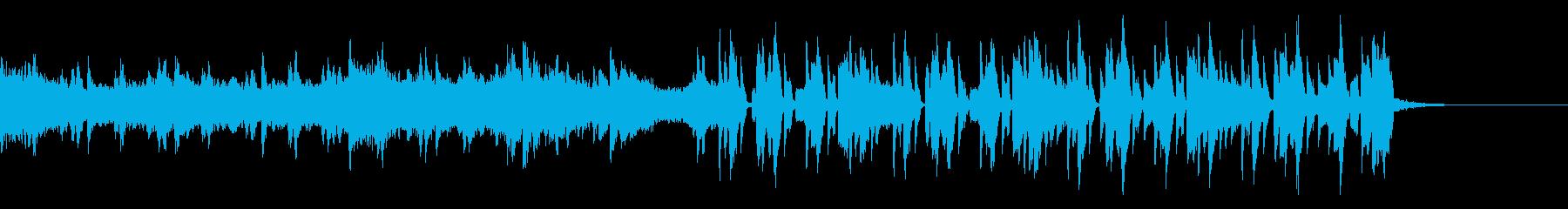 わずかにディープめな四つ打ちの再生済みの波形