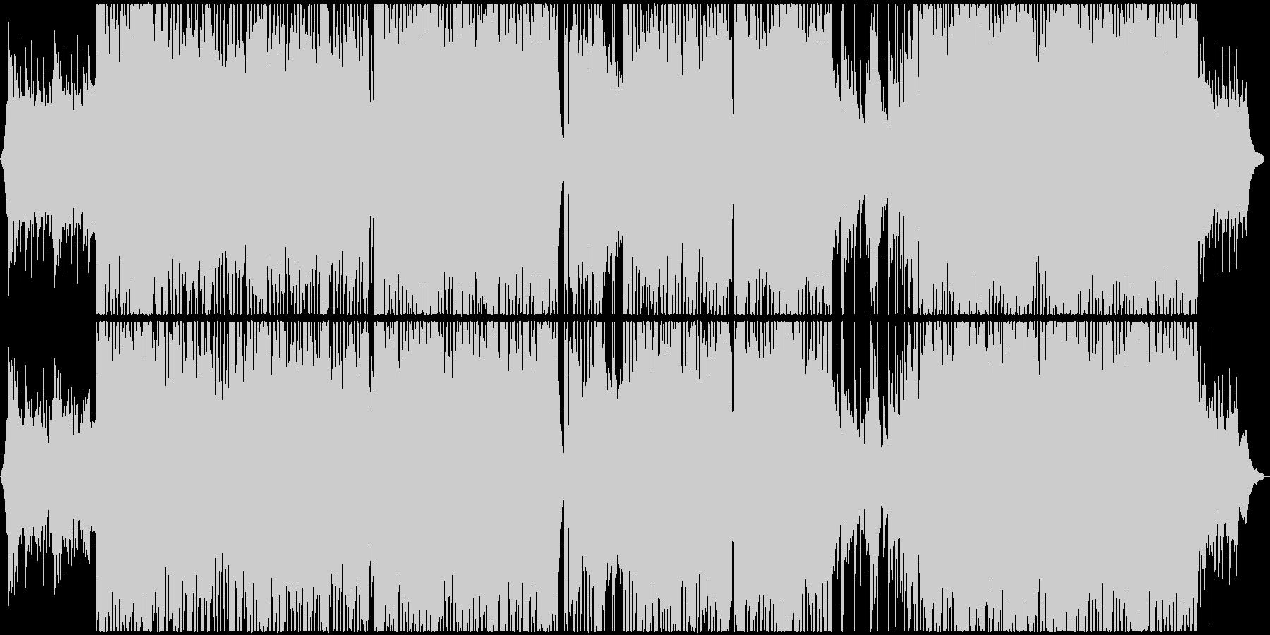 しっとり和風ロックバラードの未再生の波形