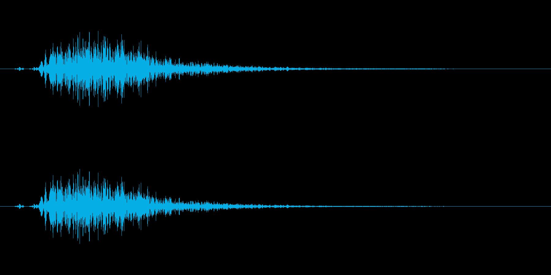 〖ゴルフ〗ドライバーのスイング効果音ですの再生済みの波形